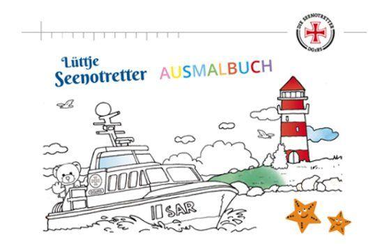Lüttje Seenotretter Ausmalbuch gratis anfordern