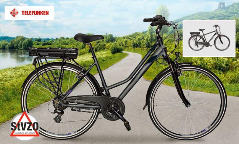 Top! Telefunken XT481 Expedition   Damen & Herren Trecking e Bike für 784,99€ (statt 1.044€)