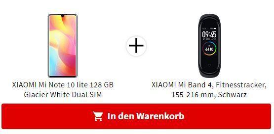 XIAOMI Mi Note 10 lite 128GB + XIAOMI Mi Band 4 ab 389€ (statt 430€)