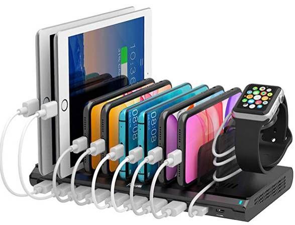 120W USB Ladestation mit 10 USB Ports inkl. 2x 45W PD & 1x QC 3.0 Port für 71,49€ (statt 110€)