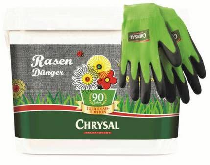 Chrysal Rasendünger Jubiläum 5kg (für 200m²) inkl. Handschuhe für 13,99€ (statt 20€)