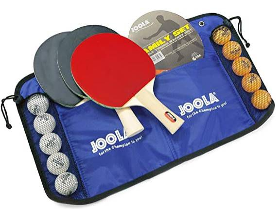 Joola Family Tischtennis Set mit 4 Schläger & 10 Bälle inkl. Tasche für 16,79€ (statt 21€)