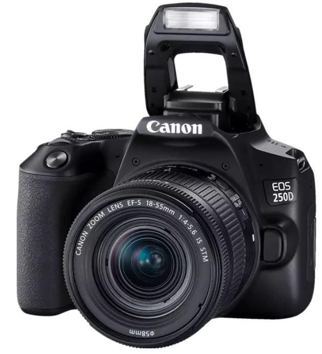 Canon EOS 250D Spiegelreflexkamera mit 24.1 MP WLAN und 18 55mm Objektiv ab 538,99€ (statt 579€)