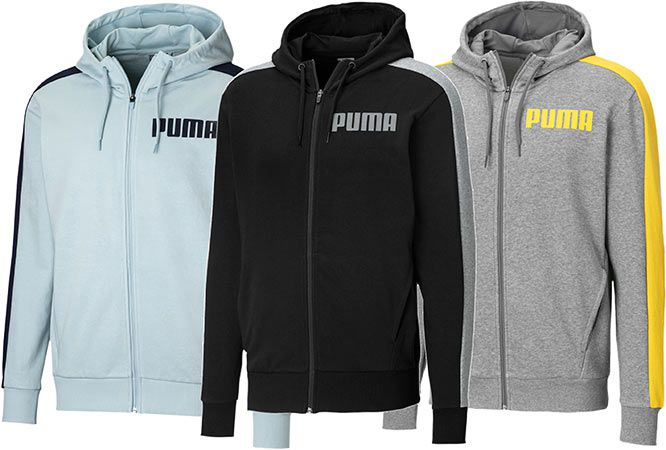 Puma Contrast Herren Sweatjacke mit Kapuze in 3 Farben für je 23,99€ (statt 38€)