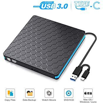 SAWAKE externer USB CD Brenner und DVD Rom für 13,99€ (statt 20€)   Prime