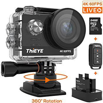 ThiEYE T5 Pro 4k ActionCam mit 60fps, 170° Weitwinkel & 2 Akkus für 89,99€ (statt 150€)