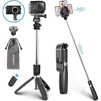 Abgelaufen! Elegiant EGS 001 4in1 Selfie Stick & Stativ für 9,79€ (statt 14€)
