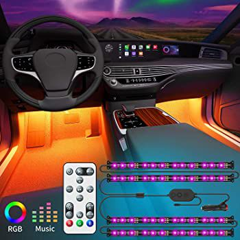 Govee LED Innenbeleuchtung mit Fernbedienung für das Auto für 14,99€ (statt 19€)   Prime