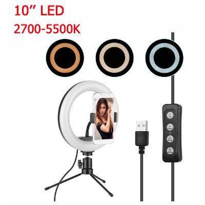 10 Zoll LED Ringlicht B3V3 in 2700 5500K mit Stativ für 13,88€ (statt 20€)
