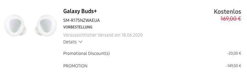 Vorbei! Samsung Galaxy S20+ 5G inkl. Galaxy Buds+ für nur 5€ + o2 Flat inkl. unlimited LTE für 49,99€ mtl.