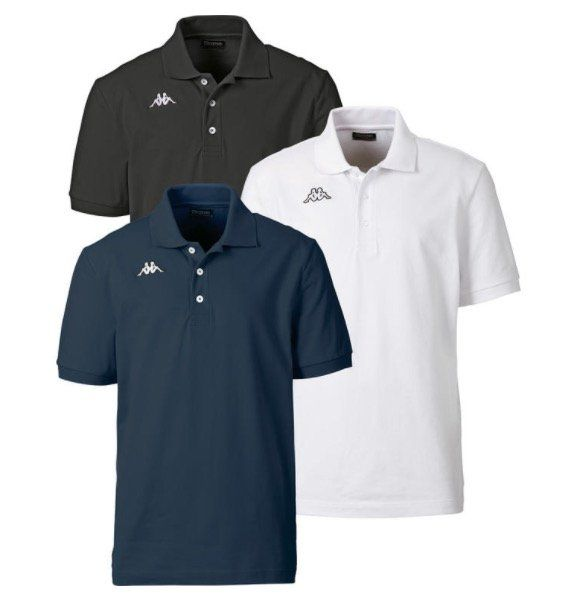 3er Pack Kappa Poloshirts aus gekämmter Baumwolle für 29,59€ (statt 40€)