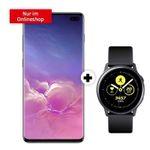 Samsung Galaxy S10 Plus 128GB + Galaxy Watch Active für 1€ mit O2 Allnet-Flat mit 40GM LTE Max für 34,99€ mtl.