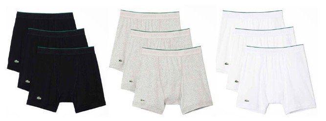 12er Pack Lacoste Essentials Pants in Schwarz, Grau oder Weiss aus Supima Cotton für 63,96€ (statt 120€)