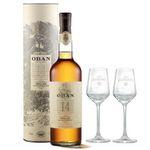 Ausverkauft! Oban 14 Years Single Malt Whisky 0,7 Liter mit 2 Nosing-Gläsern für 43,49€ (statt 57€)