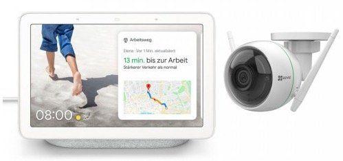 Google Nest Hub mit Überwachungskamera EZVIZ C3WN für 109,95€ (statt 157€)