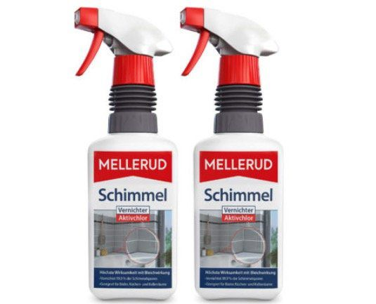 2er Pack Mellerud Aktivchlor Schimmelentferner (je 500 ml) für 11,11€ (statt 15€)