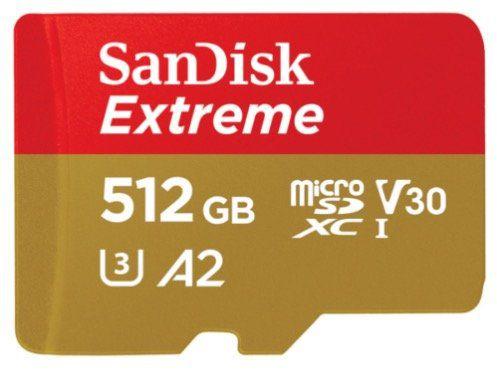 SanDisk Extreme 512GB microSDXC Speicherkarte für 75,98€ (statt 123€)