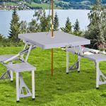 Outsunny klappbarer Campingtisch mit 4 Stühlen für 29,90€ (statt 38€)