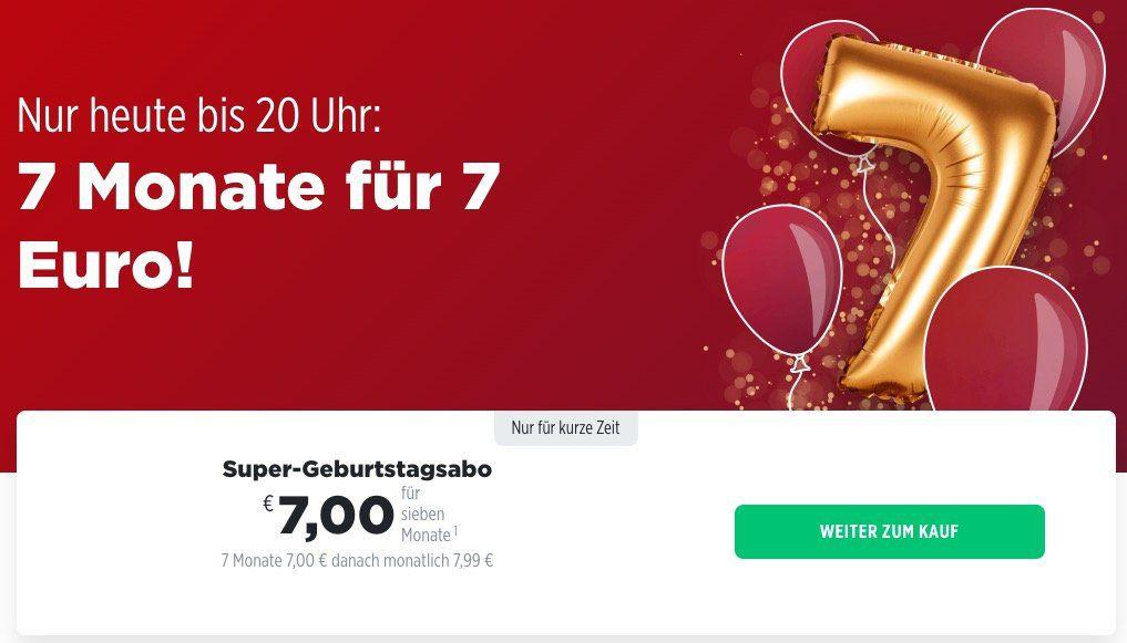 🔥 Tipp! nur bis 20 Uhr: 7 Monate BILDplus für nur 7€ statt 55,93€