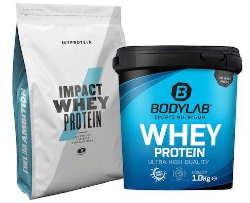 2kg Bodylab Whey Protein (Ananas oder SMores) + 1kg Myprotein Impact Whey Protein (8 Sorten) für 26,89€   MHD 30.06.