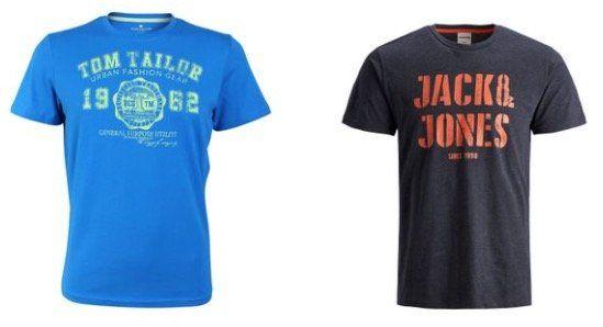 4er Pack T Shirts von Jack & Jones, Tom Tailor und Mustang für 35€ (statt 50€)