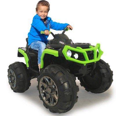 Jamara Kids Protector Quad Ride On in Schwarz Grün inkl. Akku und Ladegerät ab 131,99€ (statt 173€)