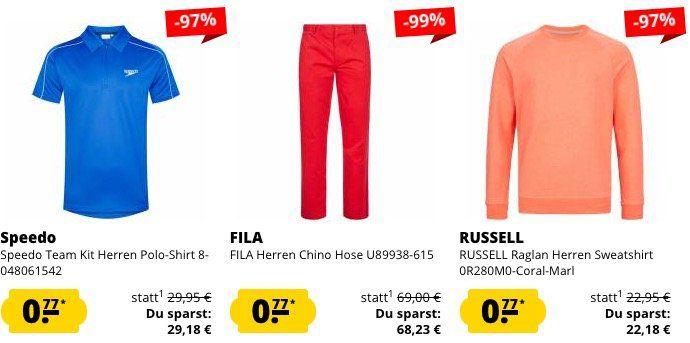 Schnell! SportSpar 0,77€ Fixpreis Sale mit Restgrößen
