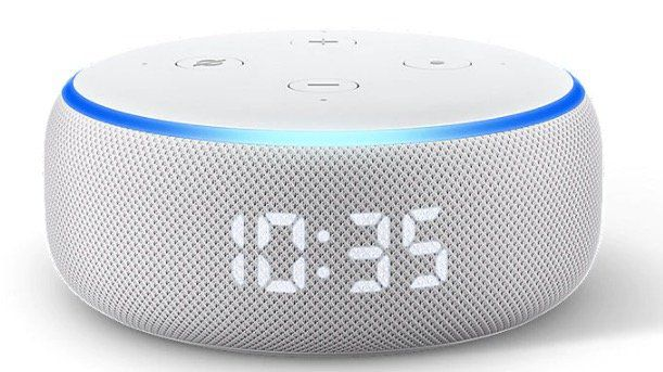 Amazon Echo Dot (3. Generation) mit Uhr ab 40€ (statt 50€)