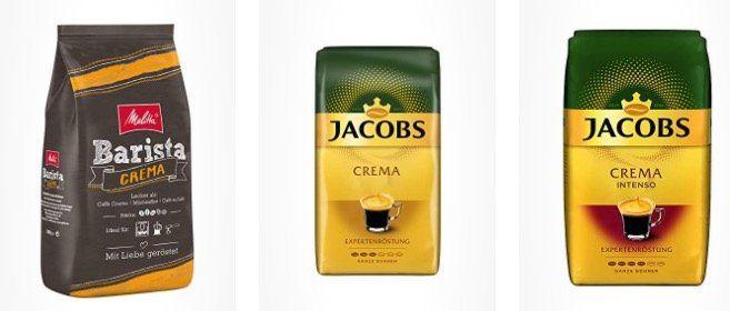 Kaffee (versch. Sorten) Tagesdeal bei Amazon   z.B. 1kg Lavazza Caffè Crema Classico ab 9,49€