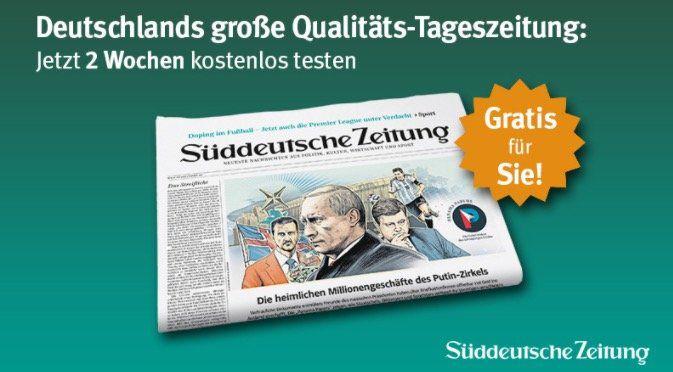 12 Ausgaben Süddeutsche Zeitung komplett kostenlos