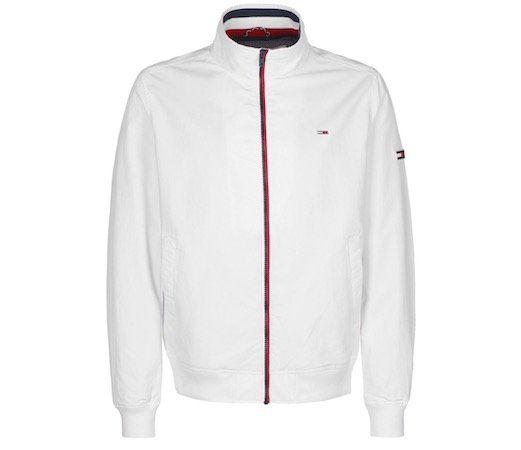 Vorbei! Tommy Jeans Essential Signature Zip Bomberjacke in Weiß für 44,95€ (statt 90€)