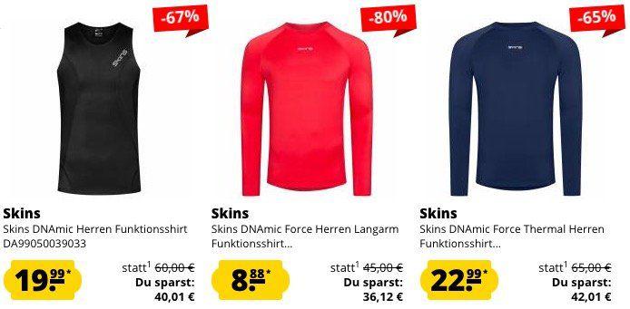 Skins Sport Kleidung im Sale bei SportSpar   z.B. Langarm Funktionsshirt für 8,88€ (statt 21€)