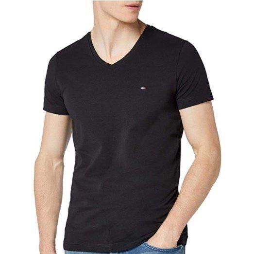 Vorbei! Tommy Hilfiger Herren Core Stretch T Shirt mit V Neck ab 13,76€ (statt 27€)
