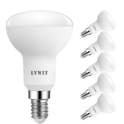 6x LVWIT LED Reflektorlampe E14 R50 Warmweiß mit 470lm und 5W für 7,80€ (statt 14€)