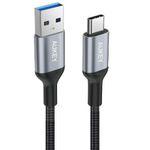 AUKEY USB-C Kabel auf USB 3.0 Nylon im Aluminiumgehäuse 2 Meter in Schwarz für 5,59€ (statt 8€)