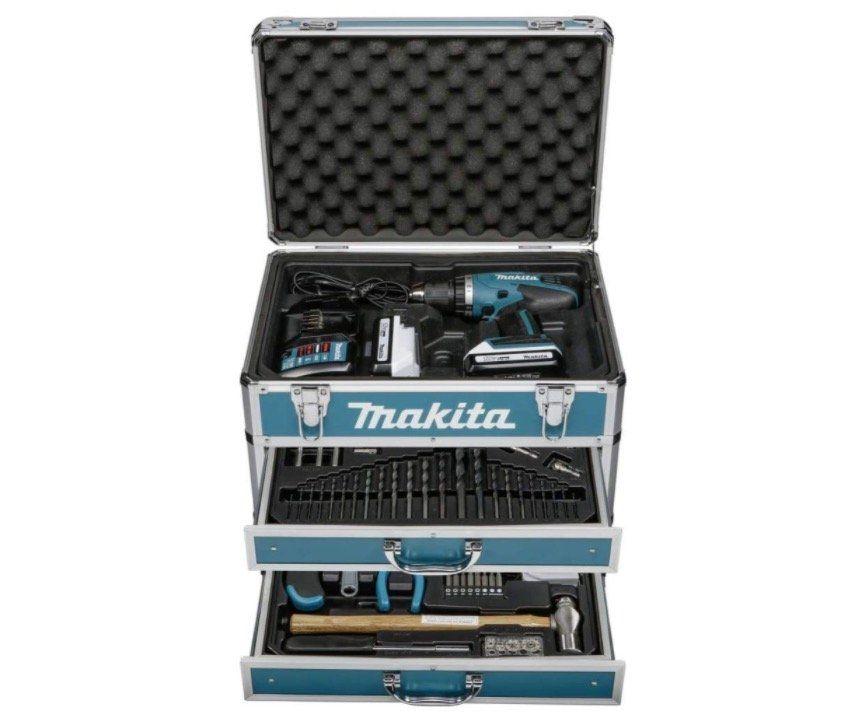 Makita DF457DWEX6 (2x 1,3Ah + 102 teiligem Zubehör im Koffer) für 199,95€ (statt 229€)