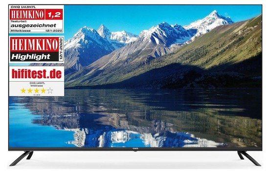 CHiQ U55H7L   rahmenloser 55 Zoll UHD Fernseher für 355,99€ (statt 400€)