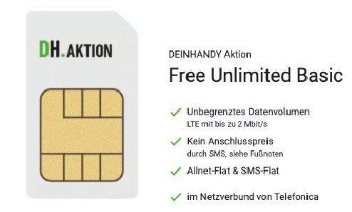 o2 Flat mit unlimited LTE Datenvolumen (max. 2 Mbit/s) für 14,99€ mtl.