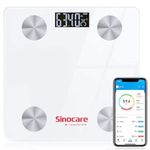 Abgelaufen! Sinocare Waage für Körperfett und Muskelmasse mit Bluetooth und APP für Auswertungen für 14,99€ (statt 30€)