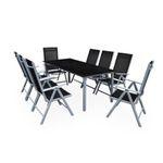 Deuba Alu Sitzgruppe Bern 9teilig für den Garten mit 8 Stühlen und Tisch für 349€ (statt 400€)