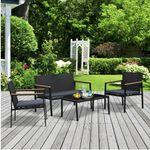 Outsunny Garten Sitzgruppe 4-teilig mit Bank, 2 Sesseln und Tisch für 134,91€ (statt 178€)