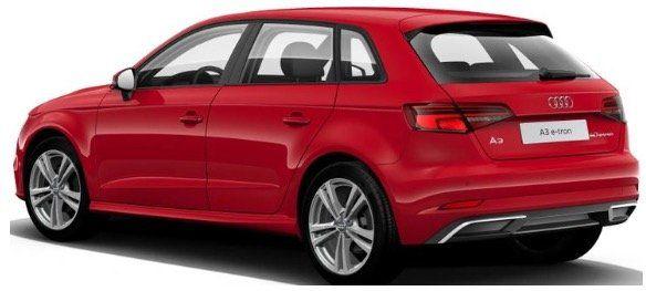 Gewerbe: AUDI e tron A3 Sportback Hybrid S Tronic mit 150PS in Tangorot Metallic für 199€ netto   LF 0,64