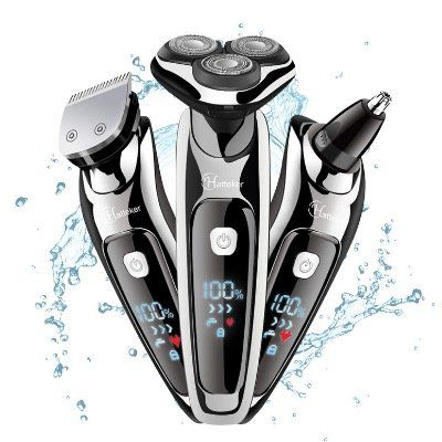 Hatteker Herren Elektrorasierer Nass  und Trocken mit Bartschneider und Trimmer für 22,19€ (statt 37€)
