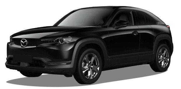 Gewerbe: Mazda MX 30 Elektro mit 143PS mit 35,5kWh in Onyx Schwarz für 86€ netto mtl.   LF 0,39