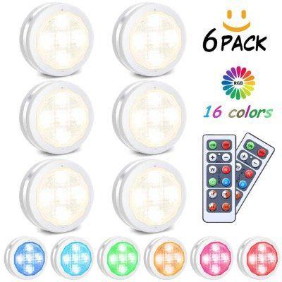 6 LED RGB Nacht  bzw Schranklichter inkl. Fernbedienung für 12,99€ (statt 20€)   Prime