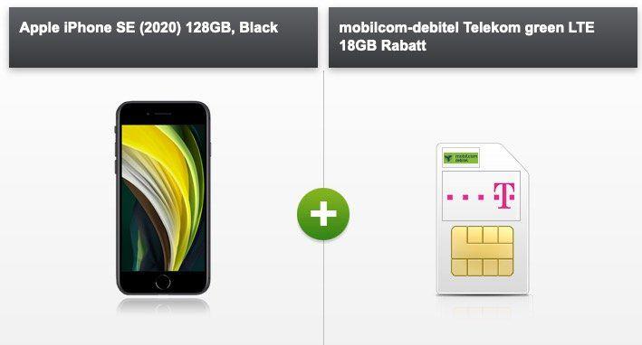 Abgelaufen! Apple iPhone SE 2020 128GB für 15€ mit Telekom Allnet Flat inkl. 18GB LTE für 24,99€ mtl.