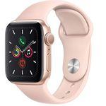 Abgelaufen! Apple Watch Series 5 GPS 40mm Aluminium in Gold mit Sandrosa Sport-Armband ab 335,85€ (statt 430€)