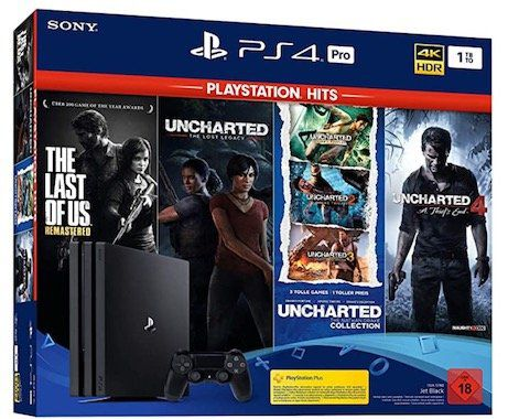 PlayStation 4 Pro PS Hits Naughty Dog Bundle inkl. The Last Of Us: Remastered + Uncharted für 325,89€ (statt 419€)