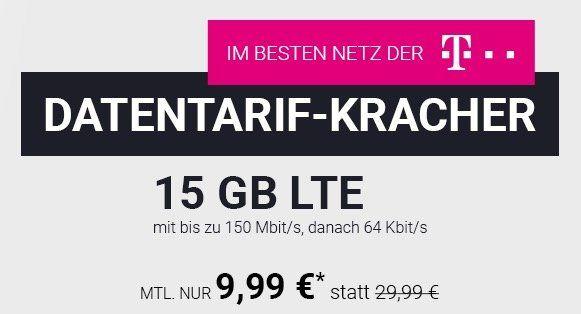 Telekom Datentarif mit 15GB LTE für 9,99€ mtl.