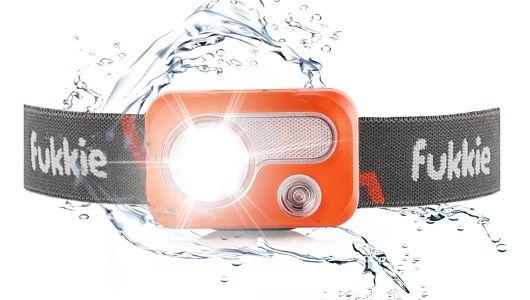 Fukkie LED Stirnlampe, Wasserdicht mit 6 Lichtmodi und Rotlicht inkl. Batterien für 8€ (statt 26€)   Prime